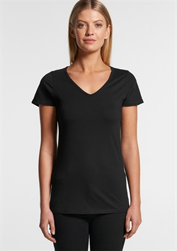 MAS4010  S.S Ladies V-Neck Bev